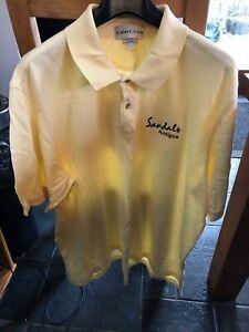 Mens Sandals Antigua Lemon Polo Shirt 2XL