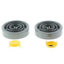Dyson DC01 dC04 aspirateur HOOVER JAUNE & GRIS roues avec capuchon COUVRES x 2