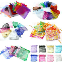 3 Sizes Drawstring Organza Gift Bag Wedding Favor Bag Pouch For Jewellery Beads