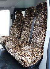 VW Transporter T5 (10-15) LEOPARD Faux FUR VAN Seat COVERS - Single + Double