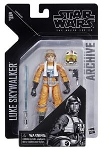 "Star Wars The Black Series 6"" Inch Archive Luke Skywalker X-Wing Pilot In Hand"