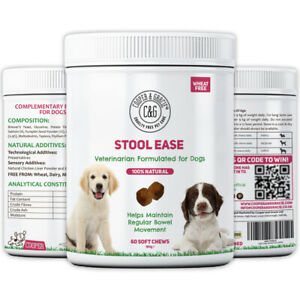 STOOL EASE FOR DOGS 60 SOFT CHEWS - MAINTAIN REGULAR BOWELS