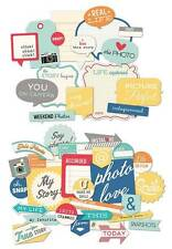 October Afternoon SNAPSHOTS 43-pc Die Cut Shapes Flash Blurbs+Snap CAPS