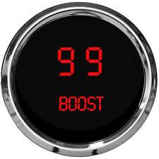 "DIGITAL BOOST GAUGE Intellitronix RED w/ Chrome Bezel 2 1/16"" & Sender USA Made"