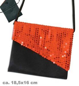 *Sonderpreis* Fasching Tasche mit Pailletten in rot
