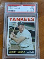 1964 Topps #350 Mickey Mantle PSA 4 VG-Ex New York Yankees Baseball Card