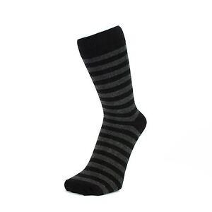Dark Grey And Black Thin Striped Ankle Socks (Size: 4-7)