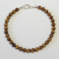 Tiger Eye Bracelet 6mm Beads 6 mm Tiger's Eye Brown Tigers Eye Unisex Bracelet