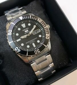 SNZF17K1 Automatic Diver Sea Urchin Black Dial Silver Steel Watch
