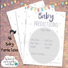 Baby Shower Prediction & Advice Cards - NEW Game - 10-50x - Glitter - Boy Girl