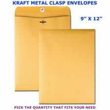 9 X 12 Kraft Metal Clasp Envelope Heavyweight 28 Gummed Pick Your Own Qty