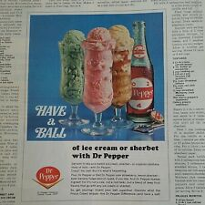 1967 Dr Pepper with ice cream or sherbert have a ball vintage original ad