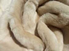 sheepskin shearling leather fur hide Eggshell Nappy Hair w//White Suede back