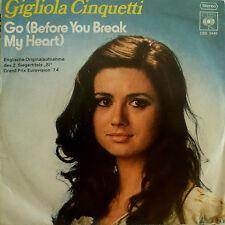 """7"""" GRAND PRIX 1974 (ITALY) GIGLIOLA CINQUETTI Go /M-?"""