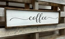 FARMHOUSE sign wood COFFEE kitchen sign rustic wooden home decor large country
