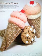 ICE-CREAM CONES  *PLASTIC CANVAS PATTERN* (2)