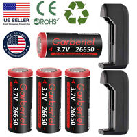 26650 Battery 9900mAh Li-ion 3.7V Rechargeable Batteries for Flashlight Torch US