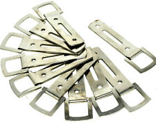 10 x NICKEL HEAVY DUTY SLOTTED PICTURE FRAME STRAP HANGER HANGING HOOK 61mm