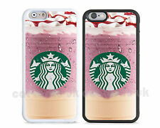 New colourful Starbucks coffee case cover for iPhone apple models,chocolate pink