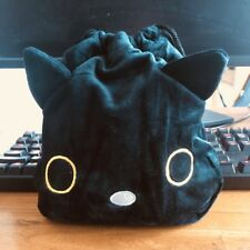 Japan black cat handbag drawstring anime tote makeup bags Phone holder