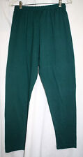 Womens Casual Pants One Size 8-10 Green Cotton Blend Pull On Made in USA