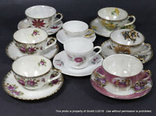 16-PC VINTAGE CUP & SAUCER SETS Verbano Porcelain, FLORAL MULTI-COLOR PRETTY!