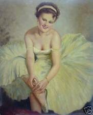 PIN UP TYPE PAINTING BY HUNGARIAN ARTIST SZOLLOSY