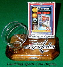 Washington Capitals NHL Sports Card Display Hockey Puck Holder Logo Gift