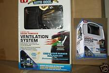 2 Solar Powered Auto Cool Car Fan ventilator plus Bonus