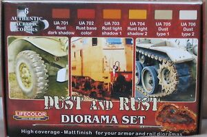 Lifecolor Acrylics LC-CS10 Dust and Rust Paint set