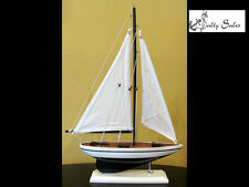 "Pacific Sailer Sloop Rig Model Sailboat (12"" L X 17"" H) - Great Gift for Men"