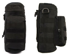 Molle Zipper Camo Water Bottle Utility Medic Pouch w Small Mess Pouch Black A