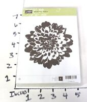 Stampin up! Unmounted Rubber Stamp Set: Definitely Dahlia - Flower Blossom