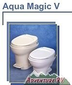 Thetford Aqua Magic V RV Parchment Toilet High Profile Hand Flush 31668 31649