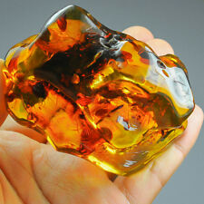70.8g Natural Baltic FLASHING FLOWER AMBER Inclusion Collectible MSFY719