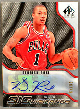 09-10 Upper Deck UD SP Signature Derrick Rose NBA AUTO #28/49 2009 2010 CAVS