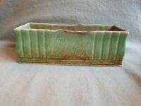 Rare Vintage Sylvac Large Green Brown Planter pot  Trough vase 491 England