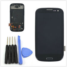 For Samsung Galaxy S3 i9300 LCD Display Touch Screen Glass Digitizer &Frame Nero
