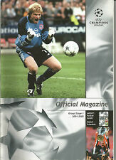 UEFA CHAMPIONS LEAGUE OFFICIAL MAGAZINE GROUP STAGE 1 2001-2002