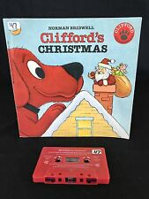 Read Along Book and Cassette Clifford's Christmas Big Red Dog Santa Scholastic