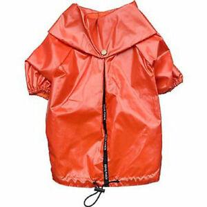 Royal Pooch Raincoat Rain Jacket Coat Orange Dog Pet Poncho
