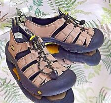 KEEN BROWN ELASTIC LACED WATERPROOF SPORT SANDALS SHOES KIDS US YOUTH SZ 1 EU 33