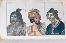 Wilhelm Anthropology Costume People America Asia Australia 62 ColorPlates - 1800