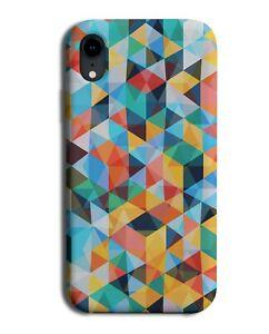 Mosaic Geometrics Phone Case Cover Geometric Print Colours Colourful K985