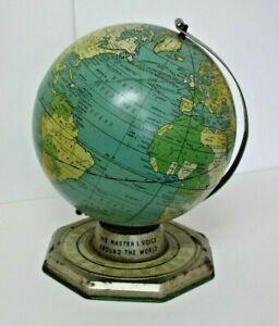 "RCA VICTOR ""Globe Trotter Radio Globe"" (Ad For Radio Stations Around World)"