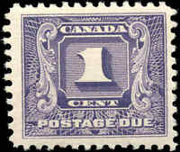 1930-1932 Mint Canada F+ Scott #J6 1c Postage Due Stamp Hinged