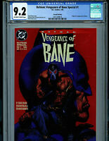 Batman Vengeance of Bane #1 CGC 9.2 NM-  2nd Print 1993 1st Bane DC Comics K15