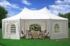 SAVE $$$ 29'x21' Decagonal Wedding Party Gazebo Tent Canopy - White