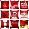 18''Christmas Pillow Case Santa Cotton Linen Sofa Throw Cushion Cover Home Decor