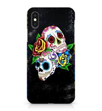Colourful Floral Patterned White Sugar Space Galaxy Skulls Phone Case Cover